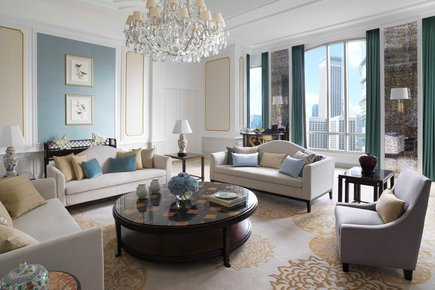 InterContinental Singapore Presidential Suite Living Room Area