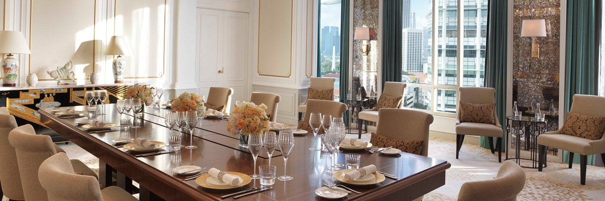 InterContinental Singapore Presidential Suite Dining Room
