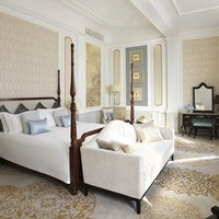 ''The exquisite headboards in the Presidential Suite are finished with custom padded silk coverings