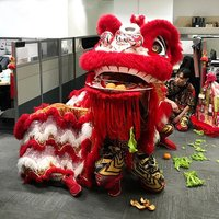Lion dance performances during joyous festivals such as the Lunar New Year, is believed to bring goo