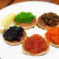 Join us for Sunday Champagne Brunch to enjoy unlimited caviar such as Avruga, Wasabi Ebiko, Ikura, T