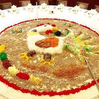 Giant #yusheng all set for the prosperity toss! Can you guess which #zodiac year we'll be celebratin
